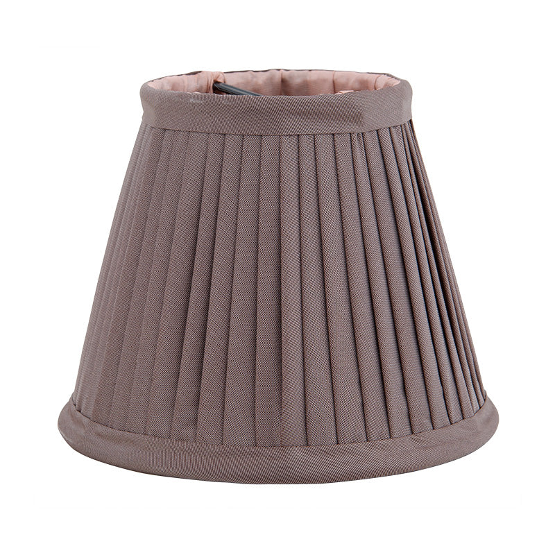 Taupe Mini Lamp Shades with Peach Lining