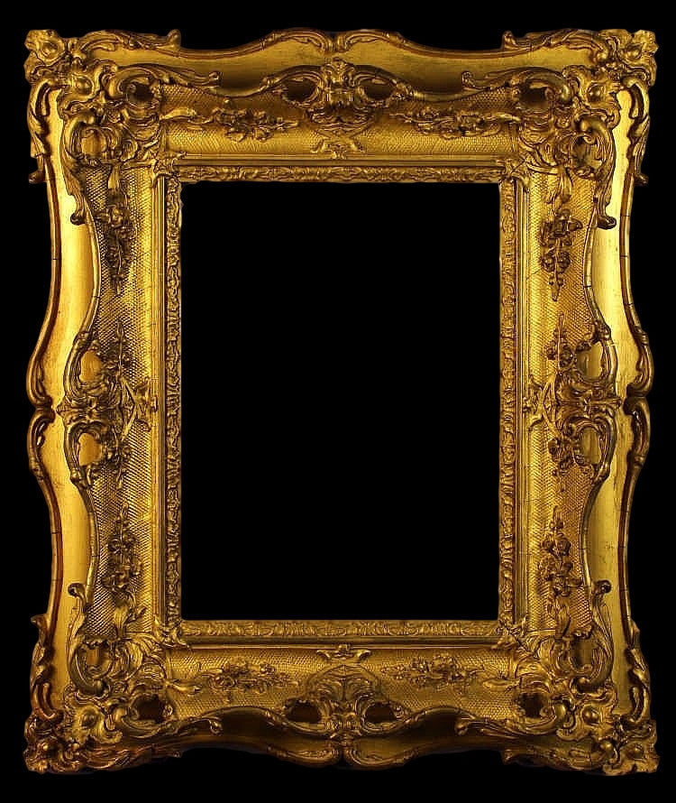 English Gilt Swept Picture Frame