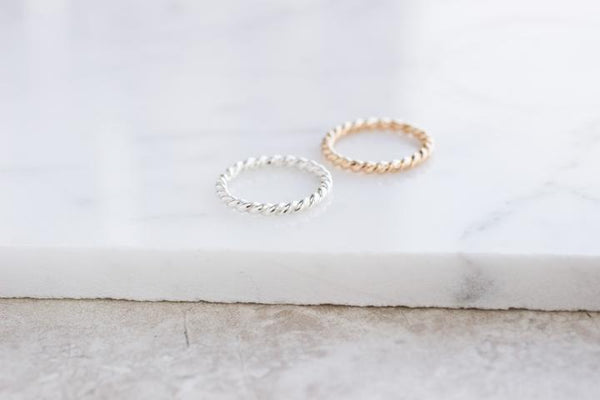 Twist Ring - sterling silver