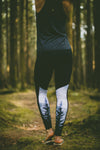 Pocket Legging - Black / Trees