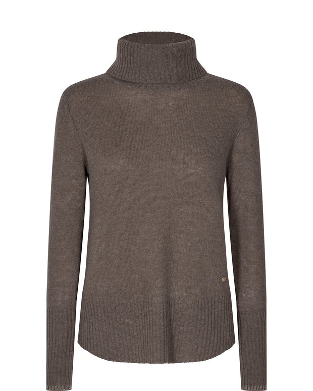 Sophia Cashmere Rollneck / 662 Chocolate Chip