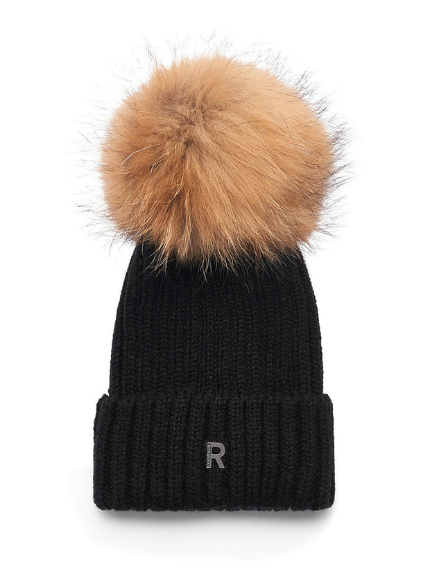 Hat Pom Pom Beanie / 899 9 Black/Natural