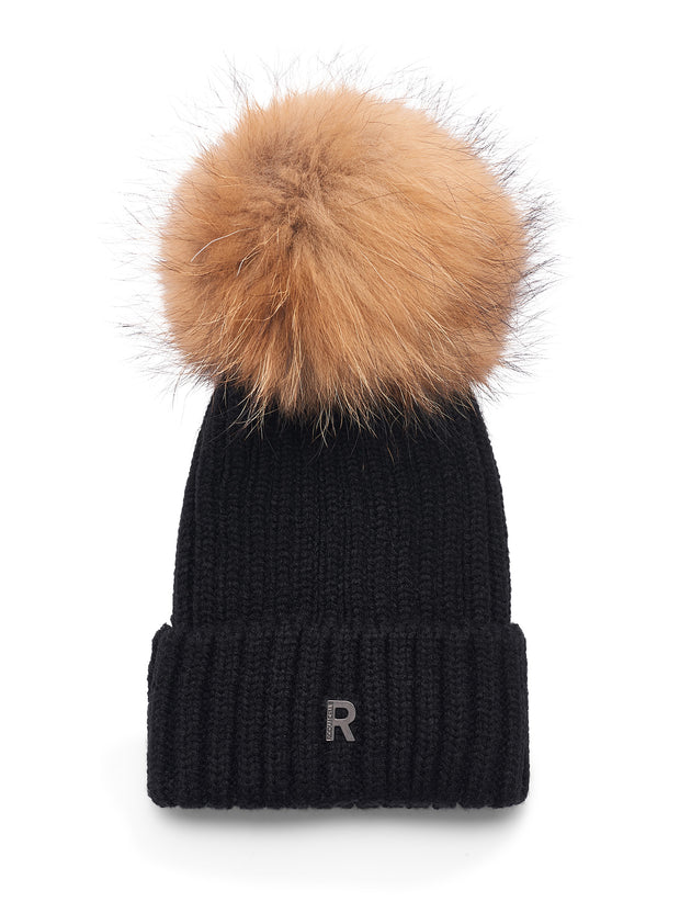 Pom Pom Beanie / 89915 F120Black/Natural