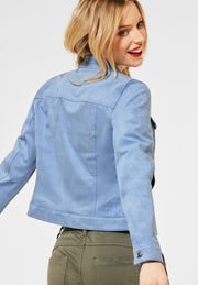 Velours Short Jacket / 12835 smog blue