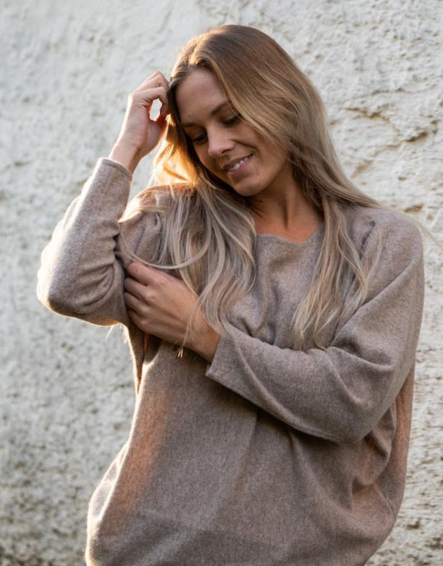 Tea Cashmere Pullover / 154 Taupe