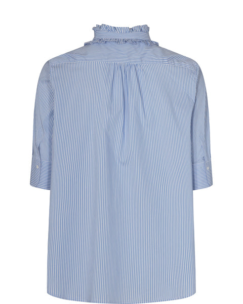 Lina Frill Blouse / 477 Bel Air Blue