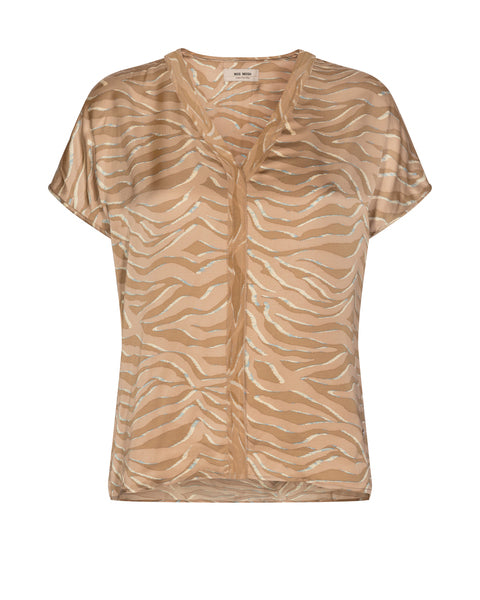 Ariana Zebra Blouse / 677 Incense