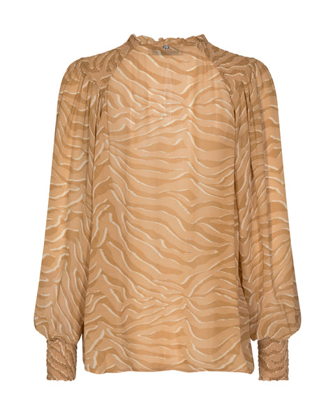 Eisa Zebra Blouse / 677 Incense
