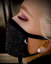 Load image into Gallery viewer, BLACK EDITION Crystal Face Covering - Crystal JetMask