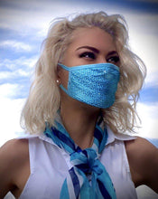 Load image into Gallery viewer, Blue Lagoon Crystal Face Mask - Crystal JetMask