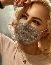 Load image into Gallery viewer, Paris Glam Diamanté Face Mask - Crystal JetMask