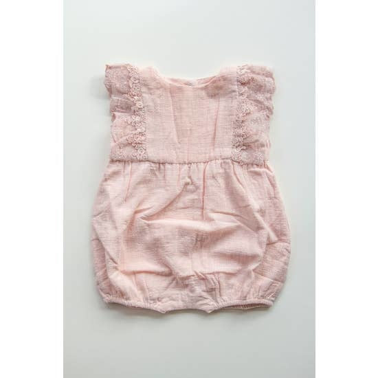 Linen and Lace Romper