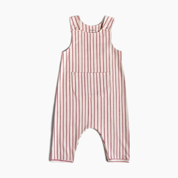 Overall - Stripes Away Dark Pink / 3-6 mos Happy Monkey Baby & Kids