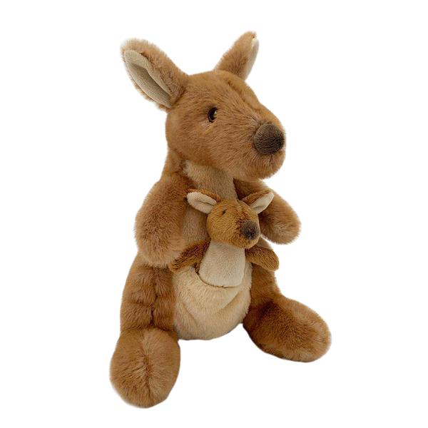 'Kenzie' Plush Kangaroo and Baby Stuffed Toy