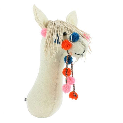 Semi Cream Llama with Bridle