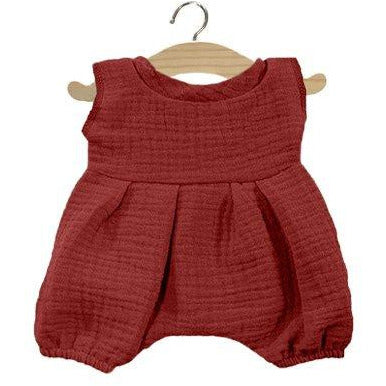 Minikane Cotton Romper Brick