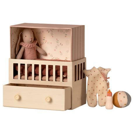 Maileg Baby Room with Micro Bunny Happy Monkey Baby & Kids
