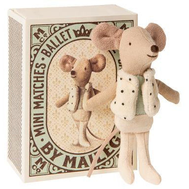 Maileg Dancer in matchbox, little brother mouse Happy Monkey Baby & Kids