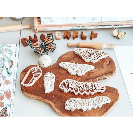 Kinfolk Pantry Monarch Butterfly Lifecycle Eco Cutter Set Happy Monkey Baby & Kids
