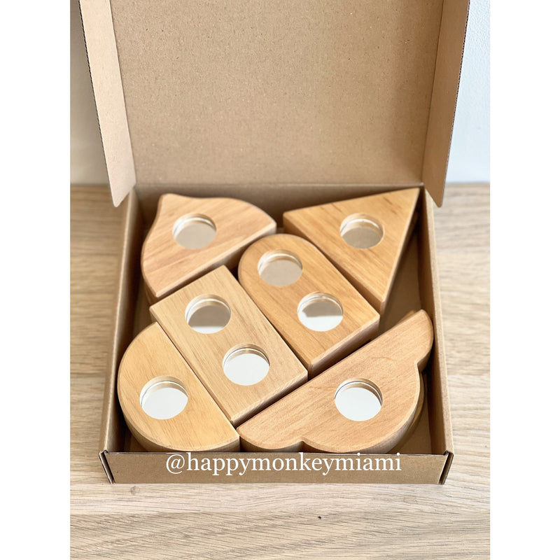 Bauspiel Mirror Blocks 12pcs Happy Monkey Baby & Kids