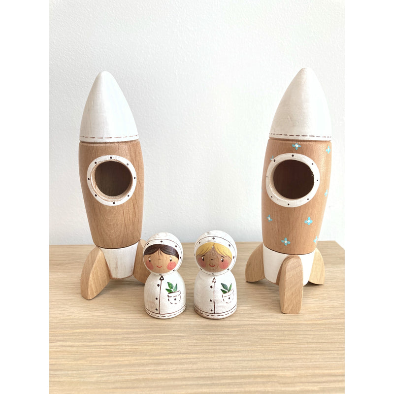 Gnezdo Rocket with Astronaut [with flowers on rocket] Happy Monkey Baby & Kids