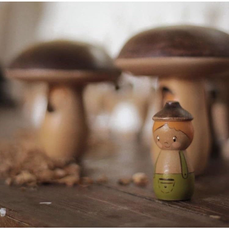 PREORDER - Mushroom House with Acorn Doll