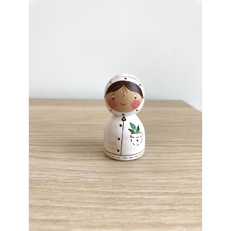 Wooden Rocket with Astronaut [no flowers on rocket]