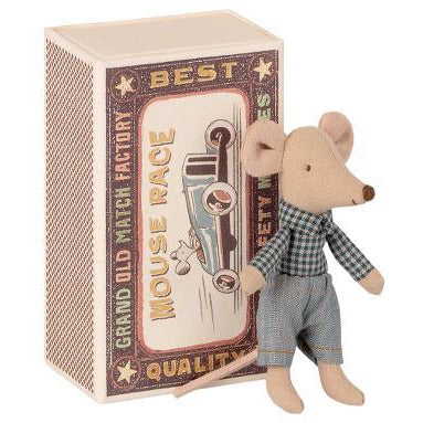 Maileg Little Brother Mouse in Matchbox Happy Monkey Baby & Kids