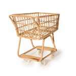 Rattan Handmade Mini Shopping Cart