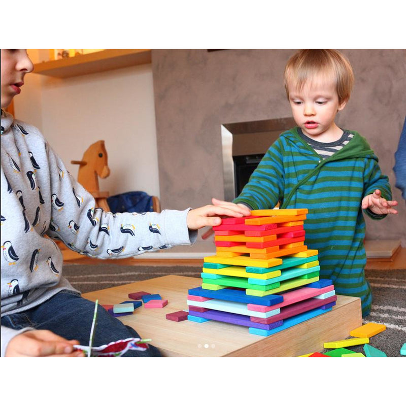 Rainbow Slat Building Set - Small