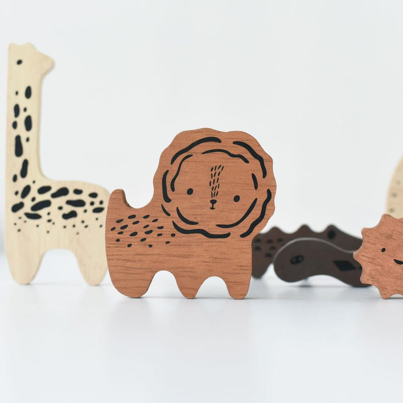 Wee Gallery - Wooden Tray Puzzle - Safari Animals