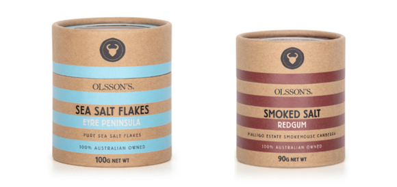 Olsson's Red Gum Smoked Salt Refill 90g + Olsson's Sea Salt 100g
