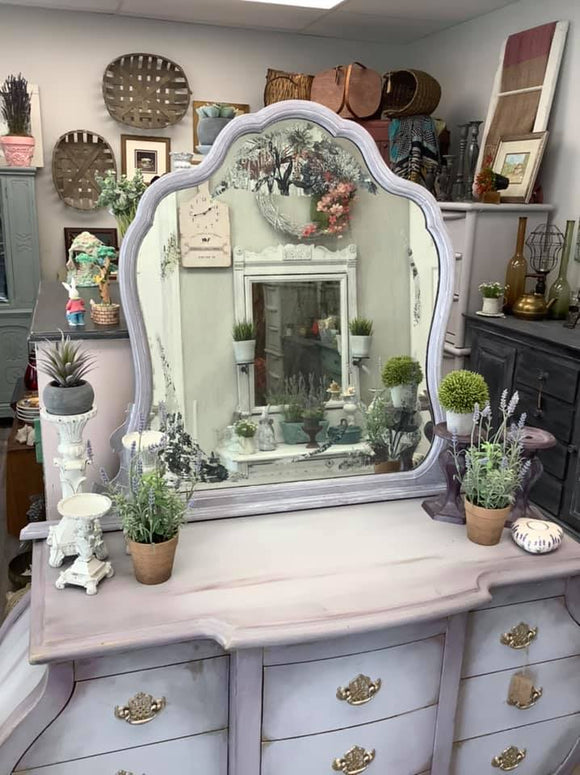 Antique Decoupaged Mirror