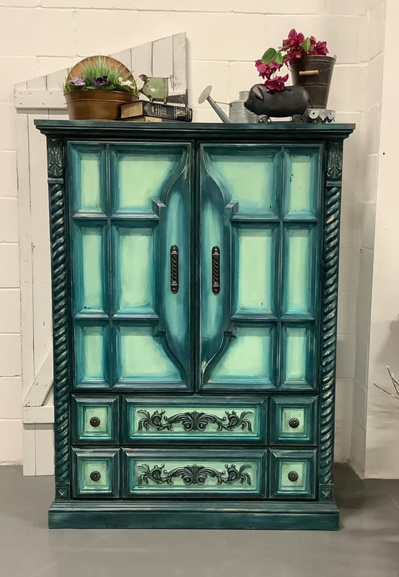 Blue/Green Armoire
