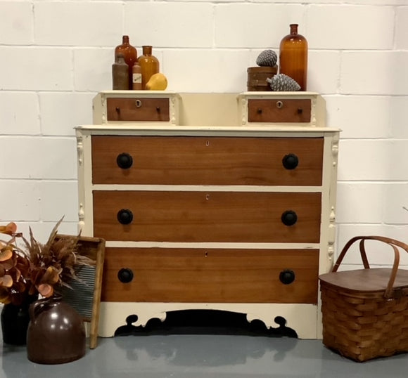 Two Tone Antique Dresser