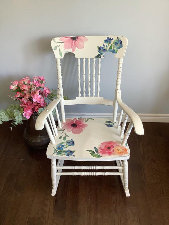 Floral Antique Rocker
