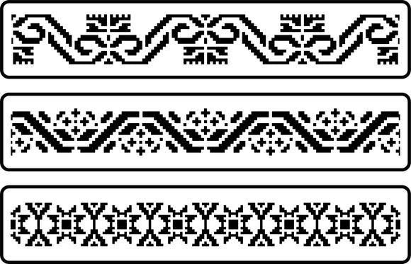 Mexican Embroidery Border Set | JRV Stencils
