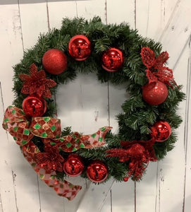 Xmas Wreath - Sparkling Red