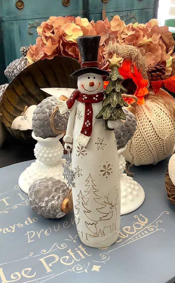 Carved Snowman