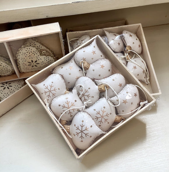 Box of Tin Ornaments