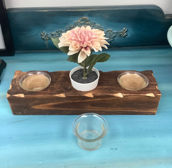 Wooden Votive Holder