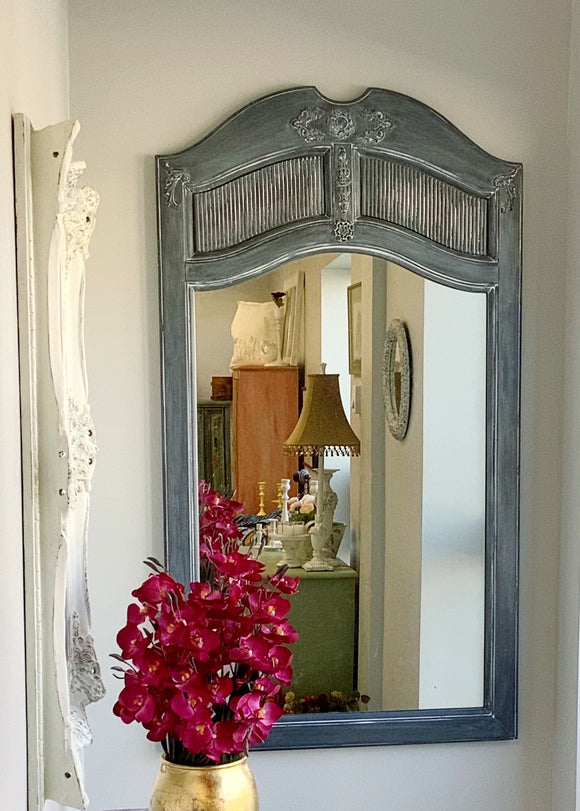 Grey Arched Mirror