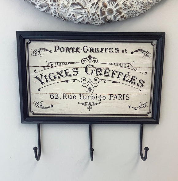Metal sign with Hooks
