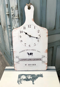 Cutting Board Wall Clock
