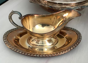 Silver plated Gravy Boat/tray