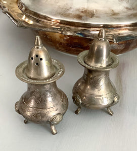 Silver a Plated Salt & Pepper Shakers