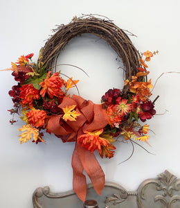 Grapevine fall wreath 1