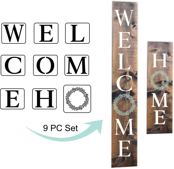 Welcome and Home Stencils