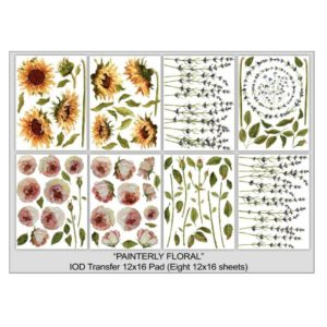 Painterly Florals - Transfer Pad