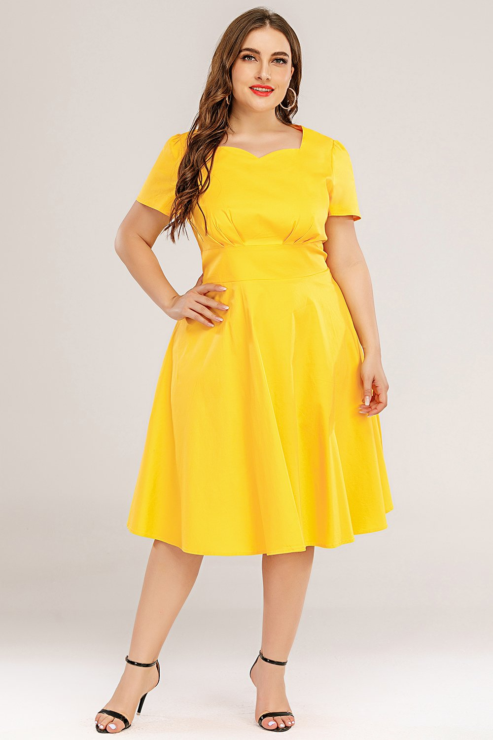Sukienka swingowa plus size 50s